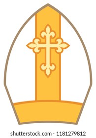 Bishop Mitre (Miter) vector illustration