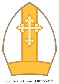 Bishop Mitre (Miter) vector illustration