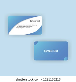 bisiness cards modern concept free vector eps