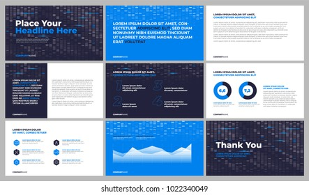 Bisiness presentation templates. Use in presentation, corporate report, marketing, advertising, annual report, banner. Vector eps 10.
