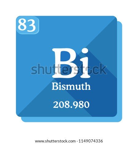 Bismuth Bi Element Periodic Table Flat Stock Vector Royalty Free