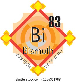 Bismuth form Periodic Table of Elements V3 - vector illustrator