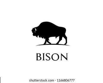 bison black logo icon designs