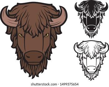 Bison head vector illustration design