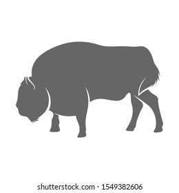 Bison Logo Design Vector. Bison logo Template