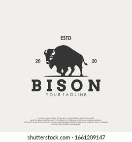 Bison Logo Design Vector Template. Modern Design. Bison Logo. Vector Illustration