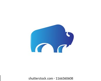 bison logo icon designs