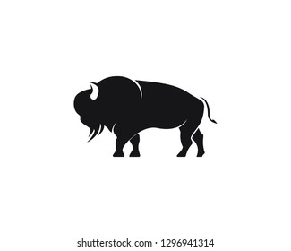 Bison logo icon vector template illustration design