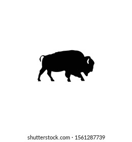 Bison silloutte logo icon vector.