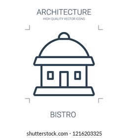 bistro icon. high quality line bistro icon on white background. from architecture collection flat trendy vector bistro symbol. use for web and mobile