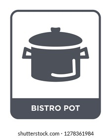 bistro pot icon vector on white background, bistro pot trendy filled icons from Bistro and restaurant collection, bistro pot vector illustration