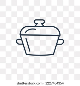 Bistro Pot vector outline icon isolated on transparent background, high quality linear Bistro Pot transparency concept can be used web and mobile