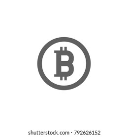 Bit coin icon vector