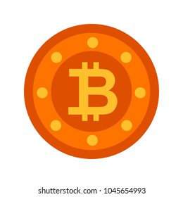 Bit coin icon, vector currency sign, bitcoin