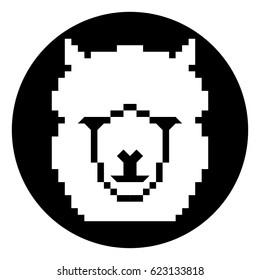 Bit style alpaca icon.