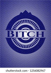 Bitch emblem with jean high quality background