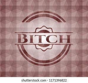 Bitch red seamless geometric emblem.