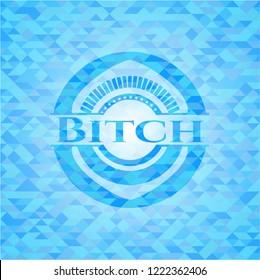 Bitch sky blue mosaic emblem
