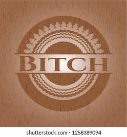 Bitch wood icon or emblem