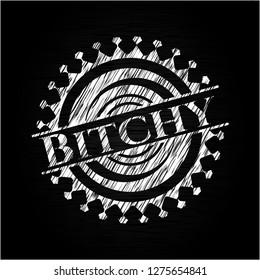 Bitchy chalk emblem