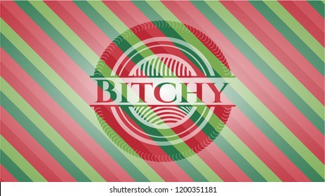 Bitchy christmas badge background.