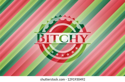 Bitchy christmas style emblem.
