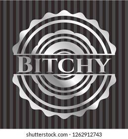 Bitchy silvery shiny emblem