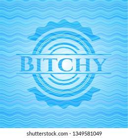 Bitchy water concept emblem.