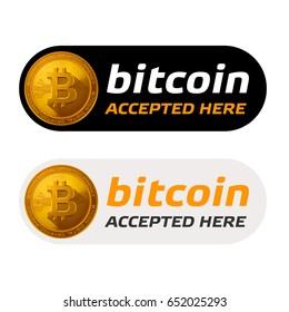 bitcoin accepted sign emblem
