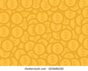Bitcoin for background texture illustration