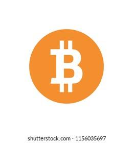 Bitcoin BTC Cryptocurrency logo vector