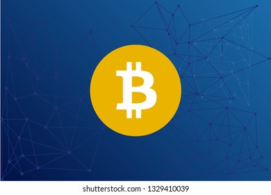Bitcoin Cash Satoshi Vision (BCH) (BSV) (BCHSV) cryptocurrency network vector illustration