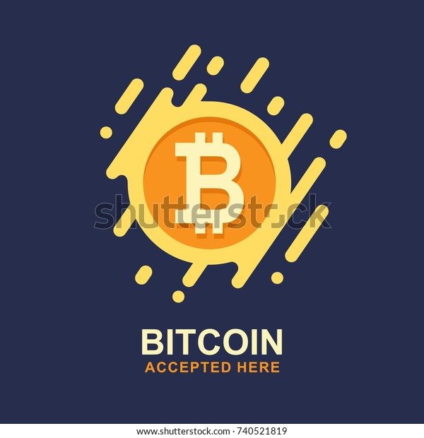 Bitcoin Concept Cryptocurrency Logo Sigh Digital Stock