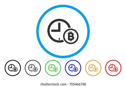 Bitcoin Credit Clock flat vector illustration for application and web design.