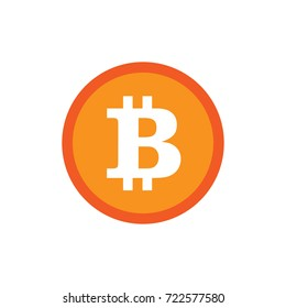 Bitcoin crypto currency. Blockchain technology illustration