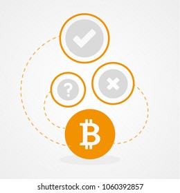 Bitcoin. Crypto currency concept. Infographic. Vector illustration, flat design