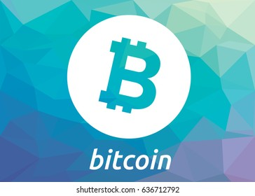 Bitcoin crypto currency flat logo. Bitcoin sticker for web or print.