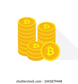 Bitcoin currency icon. Modern digital money sign illustration