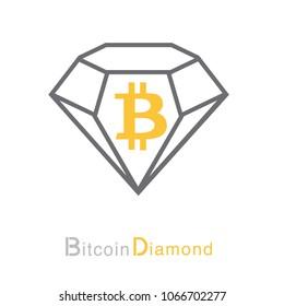 Bitcoin Diamond Cryptocurrency Coin Sign