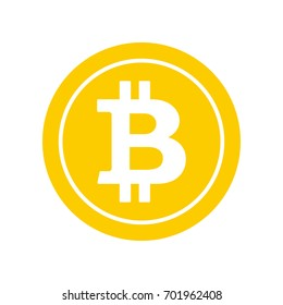 Bitcoin cryptocurrency logo svg
