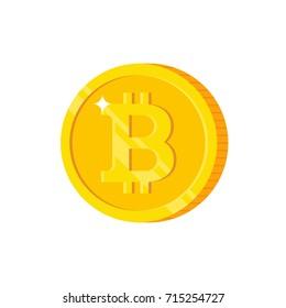 Bitcoin icon. Modern flat design illustration.