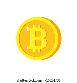 Bitcoin icon. Modern flat design illustration.