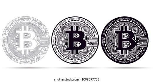 Bitcoin icon on white background