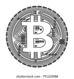 Bitcoin Icon on White Background. Vector illustration