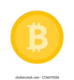 Bitcoin icon sign payment symbol. Colored. Cryptocurrency logo. Illustration isolated on white background