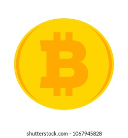 bitcoin illustration isolated, money symbol - vector bitcoin, cash payment