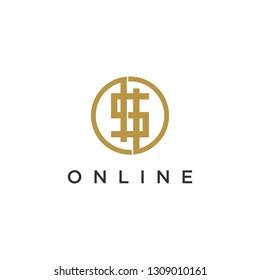 Bitcoin Line Logo.
