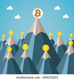 Bitcoin on the apex in Financial world