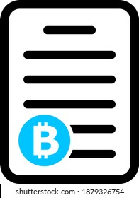 Bitcoin pricelist icon with flat style. Isolated vector bitcoin pricelist icon image on a white background.