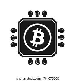 Bitcoin Processor Minig sign illustration